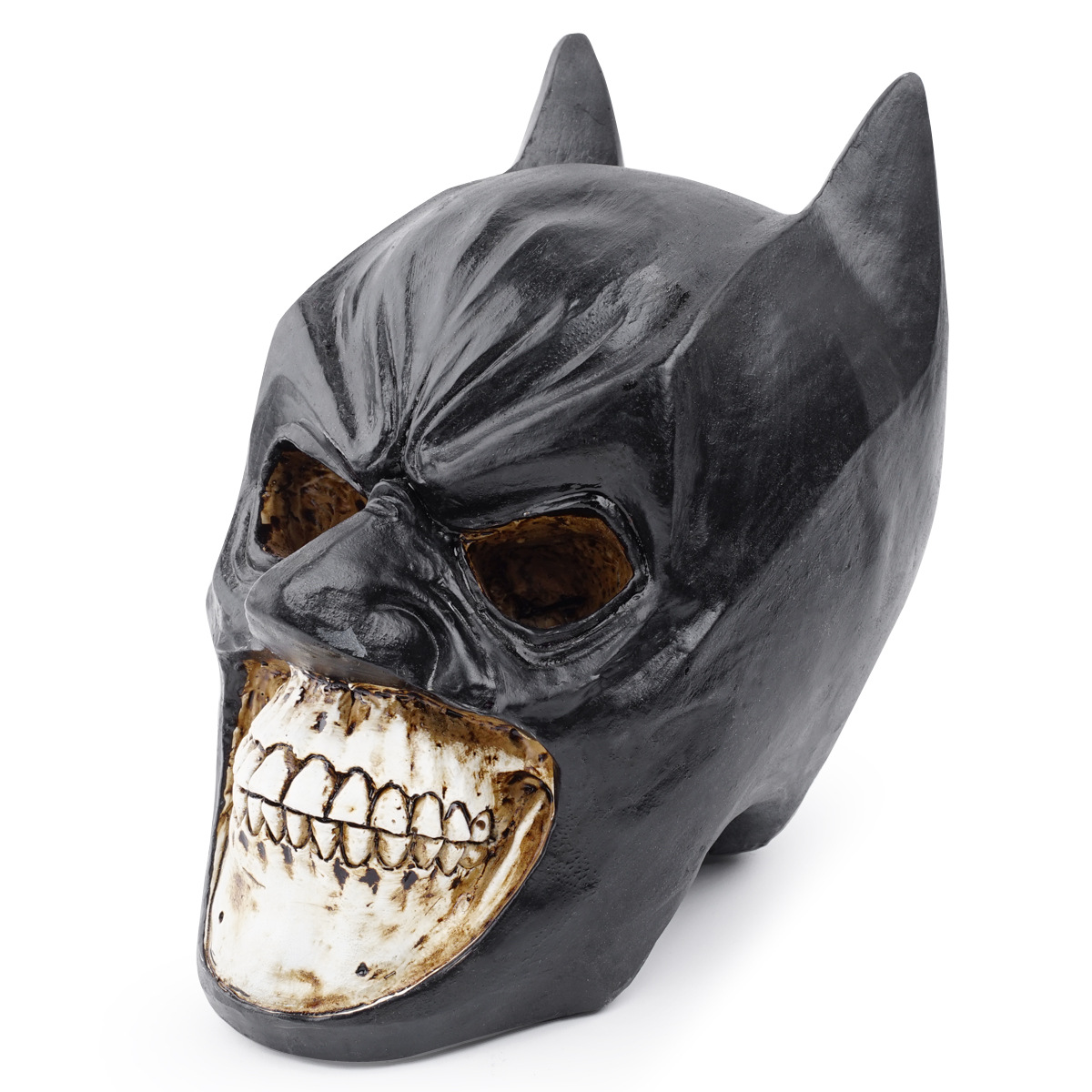 Resin Skull Batman Human Skull Medicine Model Ornaments Halloween Mo Cool Skeleton Skull Head Animal image