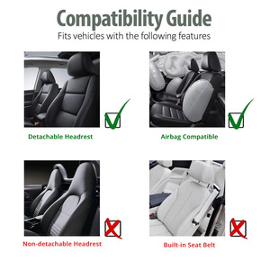 Image 5 - AUTOYOUTH Brand 2PCS Car Seat Covers 5MM Foam Airbag Compatible Universal Fit Most Vans Minibus Separated Car Seat