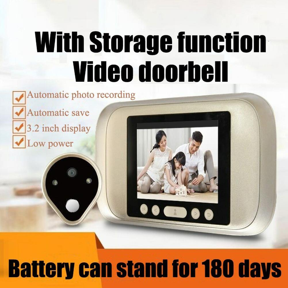 3.2inch LED Display Peephole Viewer 720P Camera Monitor Video Home Door Bell
