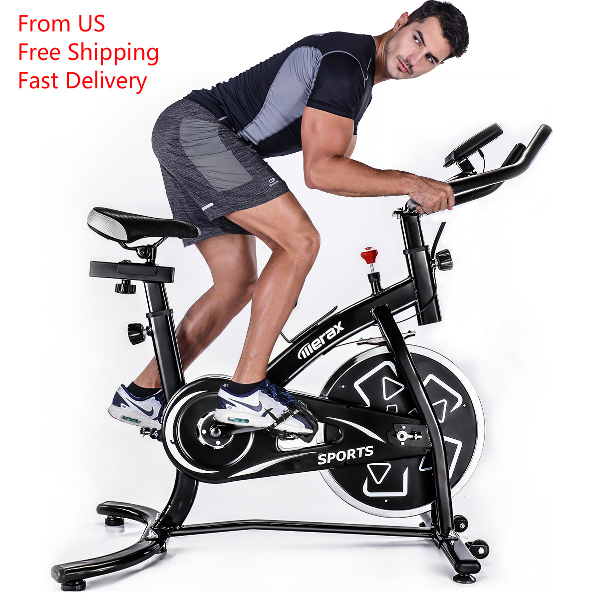 TREXM S280 Professional Indoor Cycling Bike Belt Drive Exercise Bike With 22lbs Flywheel Gym Bike Fitness Equipment LED Display