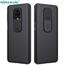 NILLKIN สำหรับ RedMi หมายเหตุ9S หมายเหตุ9 Pro Max XiaoMi 10X 4G 10 Lite กล้องโทรศัพท์กรณีป้องกันสไลด์ป้องกันฝาครอบเลนส์ป้องกัน