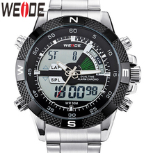 WEIDE Watch Military Reloj Hombre Tops Luxury Business Stainless Steel Strap Quartz Wristwatch Clock Relogio Masculino Men Watch gimto watches men luxury brand clock reloj relogio masculino military quartz watch stainless steel men wristwatch reloj hombre