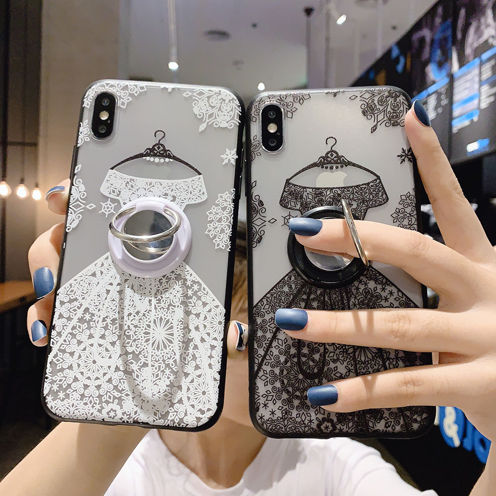 Floral Wedding Lace Soft Phone Case for Xiaomi Redmi Note 3 4 4X 5 5A 6 7 8 8T 9 Pro Max 9S S2 Y1 Y2 Y3 TPU Holder Cover