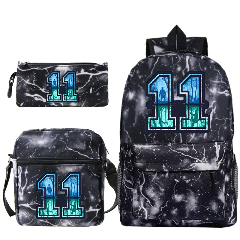 Stranger Things Mochilas Escolar Boys Girls School Bags Travel Backpack Bolsa Escolar With Crossbody Bag Pen Bags