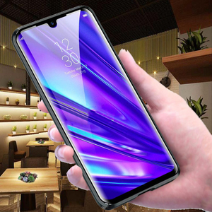 Image 4 - Realme5 pro Glass cases on for oppo realme 5pro Q 360 Double Sided Glass Case realmeQ Magnetic Metal coque (6.3Inch)