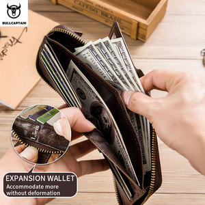 Image 3 - BULLCAPTAIN Brand mens Wallet Genuine Leather Purse Male Rfid Wallet Multifunction Storage Bag Coin Purse Wallets Card Bags