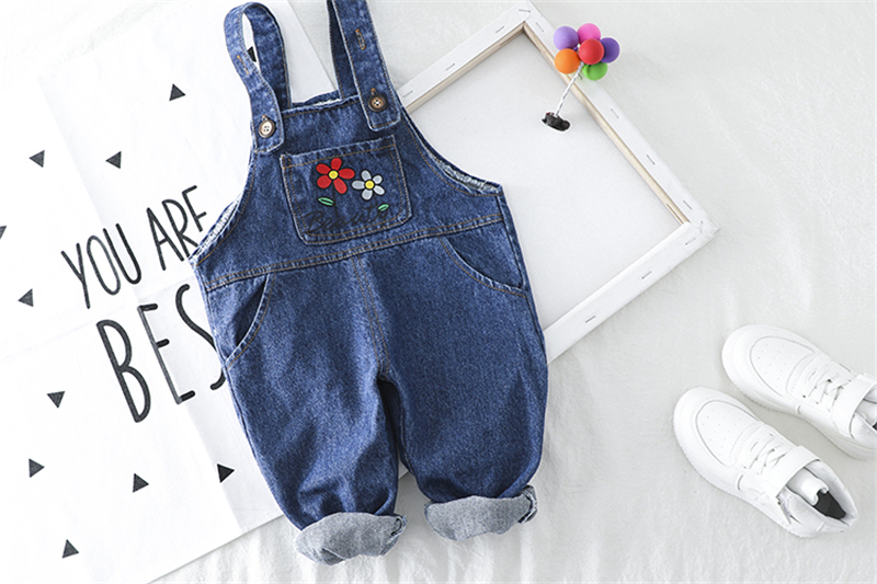 HYLKIDHUOSE Baby Girls Clothing Sets 2020 Spring Toddler Infant Clothes Lapel Lace Plaid Shirt Flowers Overalls Children Clothes