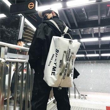 Creative new nylon shoulder bag portable travel backpack men's fashion trendy women's fitness - discount item  20% OFF Backpacks