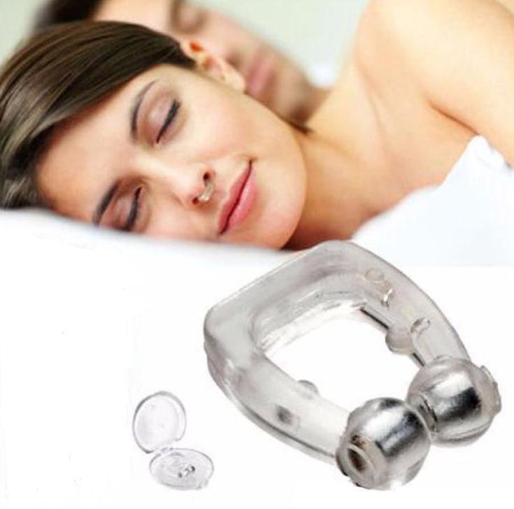Silicone Magnetic Anti Snore Stop Snoring Nose Clip Sleep Tray Sleeping Help Apnea Guard Night Device With Case SN512