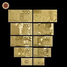 Billetes de oro de 24 quilates para hombre, billetes falsos, papel coleccionable, regalo, venta al por mayor, 4 Uds.