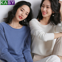 2019 Women Casual Solid Cashmere Sweaters for Winter Long Sleeve Crew Neck Knitwear Plus Size Autumn Knitted Sweaters Pullover