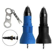 7 Pçs/set Adaptador Furadeira Elétrica Broca Ferramenta De Rebitagem Porca Rebitador Arma Puxar Conversão Adaptador Sem Fio Adaptador de Broca de Rebitagem