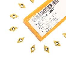 10 шт. DCMT070204 UE6020/US735/VP15TF инструменты для расточка карбидные вставки инструмент для нарезки инструменты DCMT 070204 токарные инструменты