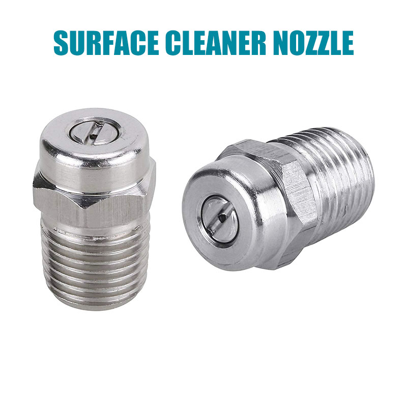 Car Pressure Washer Surface Cleaner Nozzle,Universal Spray Nozzle To Water Broom Undercarriage Cleaner,1/4 Inch Male NPT 4000PSI