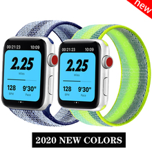 Sport band for Apple watch strap 44mm 40mm 42mm 38mm nylon loop belt bracelet iWatch band for apple watch series 6 se 5 4 3 2 1