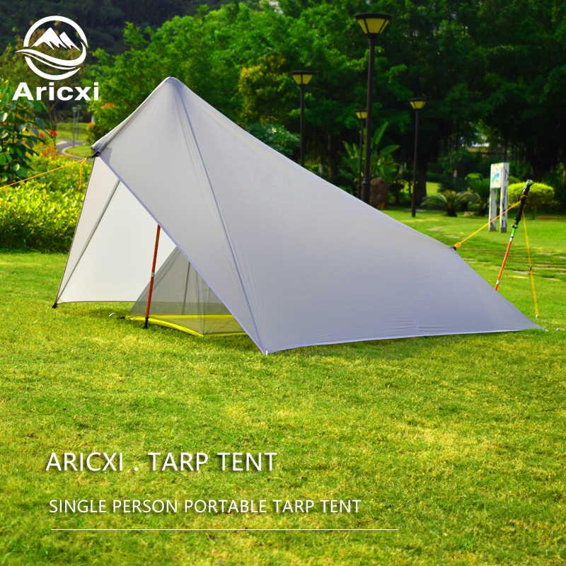 Aricxi Ultralight Camping namiot 15D Nylon Silicon shelter plandeka 1 osoba 3 sezon 4 sezon deszcz Fly plandeka na namiot