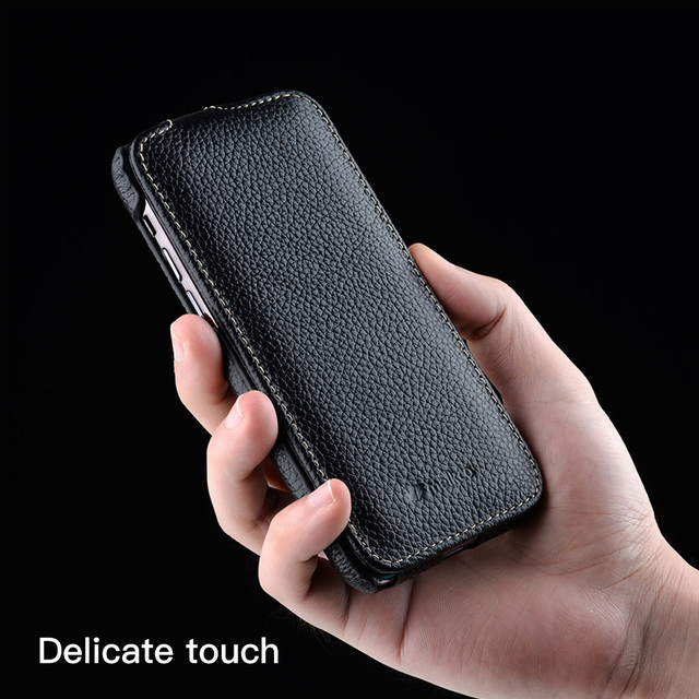 Melkco Genuine Leather Flip Phone Case For iPhone 12 Pro Max mini 11 X Xr Xs Max 7 8 SE Business Luxury Real Cow Cases Bag Cover 2
