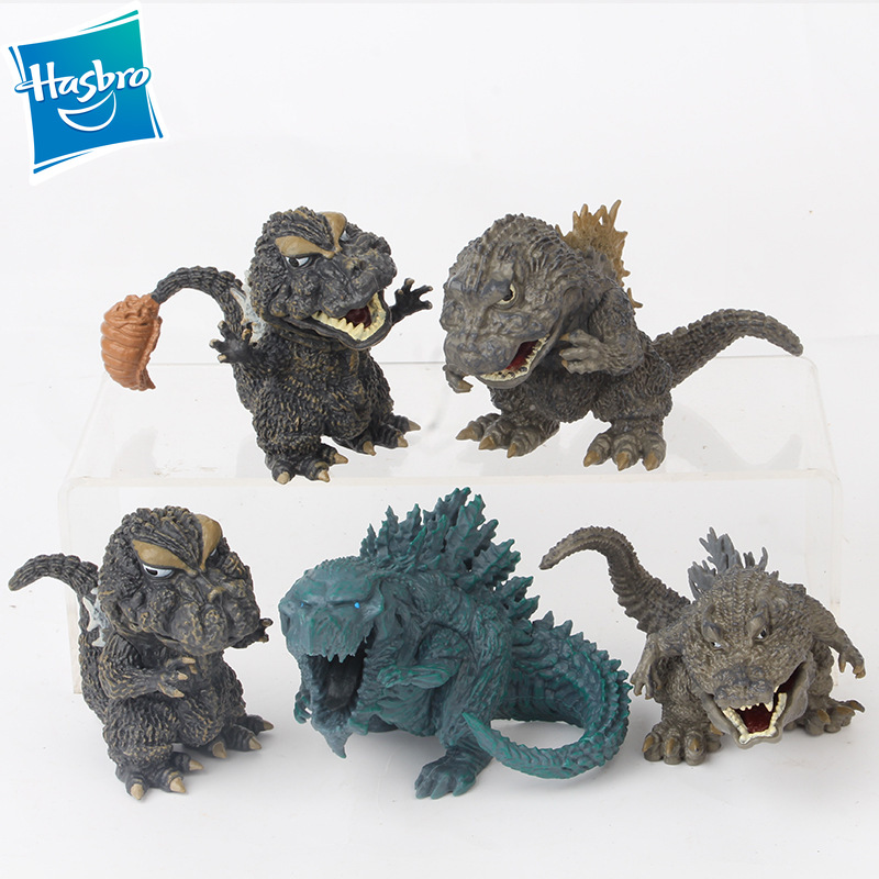 Hasbro 10cm 5pcs/set Godzilla Gojira King Of The Monsters PVC Action Figure Collectible Model Doll Children Gift