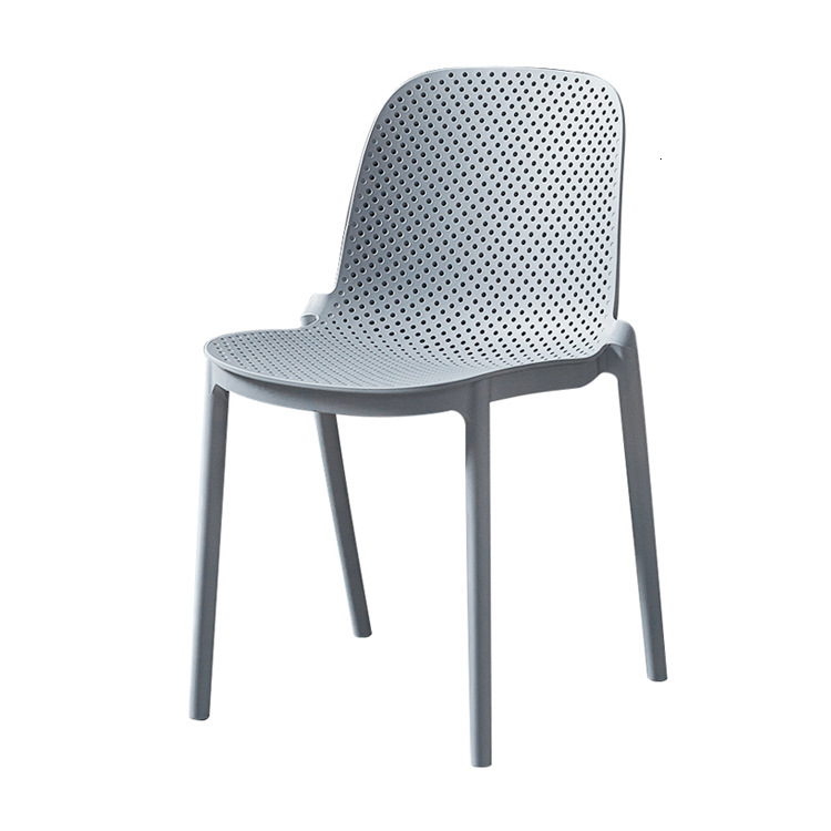 Backrest dining chair plastic modern cafeteria dining table chair large shift outdoor simple chair stool