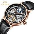 KINYUED механические Автоматические часы для мужчин турбийон наручные часы Спортивные часы механизм с автоматическим заводом часы повседневн...