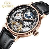 KINYUED механические Автоматические часы для мужчин Tourbillon наручные часы Спортивные часы механизм с автоматическим заводом часы повседневное ...
