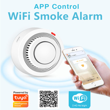 TUYA APP WIFI Smoke Alarm Smokehouse Fire Alarm Home Security System Firefighters WiFi Smoke Detector Fire Protection