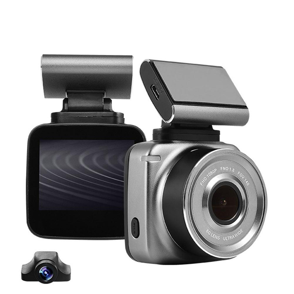 2 rejestrator samochodowy 1080P WIFI wideo rejestrator jazdy Dash Cam ADAS systemu ostrzegania przed niezamierzoną zmianą pasa ruchu magnetyczny wymienny wsparcie z kamera tylna dla anytek Q2