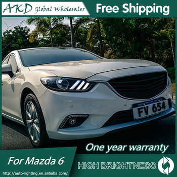 AKD Car Styling for Mazda 6 Headlights 2015 Mazda6 Atenza LED Headlight Mustan Design DRL Bi Xenon Lens High Low Beam Parking - DISCOUNT ITEM  20 OFF Automobiles & Motorcycles