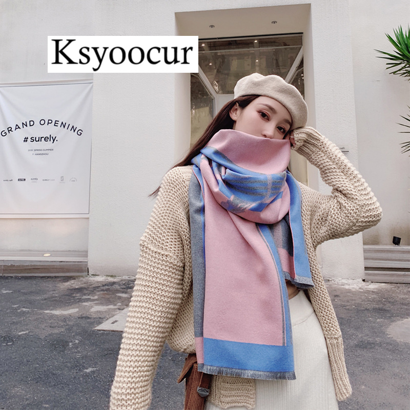 Size 200*65cm, 2020 New Autumn/Winter Long Section Cashmere Fashion Scarf Women Warm Shawls And Scarves Brand Ksyoocur E20