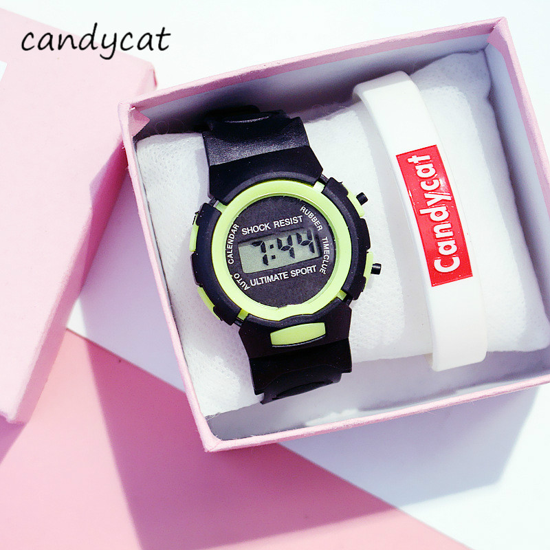 CandyCat Student Electronic Sports Watch Multifunctional Children's Watch Boy Bracelet Primary And Secondary School Alarm Clock