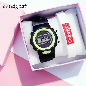 CandyCat Student Electronic Sports Watch Multifunctional Children's Watch Boy Bracelet Primary and S