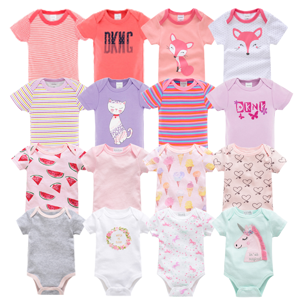 Newborn Baby Bodysuit Short Sleeve Body Dziecko 7pcs/set  Body Bebe Pyjamas Baby Girl Clothes Ropa Bebe Body Baby Boy Bodysuits