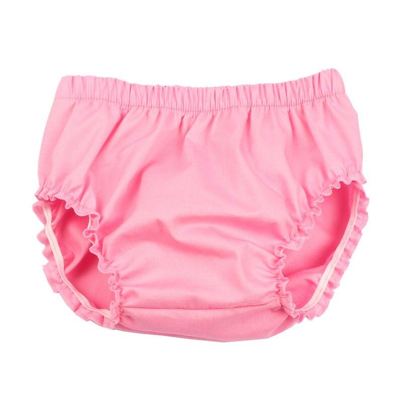 Хлопковые блумеры для малышей; однотонные детские шорты с рюшами и вышивкой; подарок для малышей