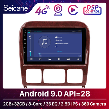Seicane DSP Android 9.0 Car Unit Player Stereo GPS For 1998-2005 Mercedes Benz S Class W220 S280 S320 S350 S400 S430 S500 S600 image