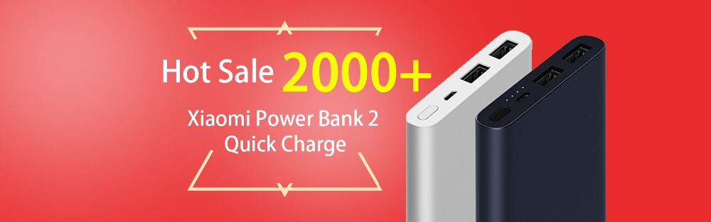 xiaomi power bank 2 quick charge 20000 mAh