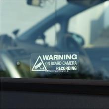 Naklejki samochodowe S025 ostrzeżenie na kamera pokładowa nagrywanie zwróć uwagę na bezpieczeństwo akcesoria samochodowe