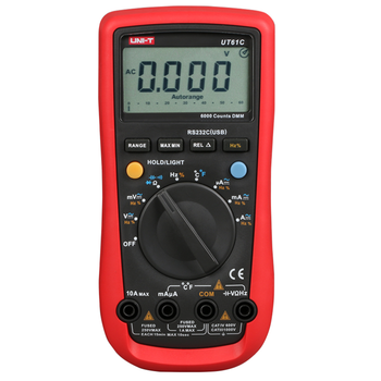 UNI-TUT61A UT61B UT61C UT61D UT61E Modern Digital Multimeters Transistor NCN Tester Meter CD Backlight Data Hold Ammeter Tester