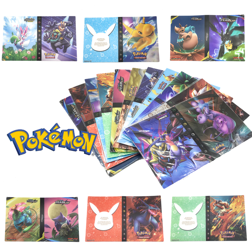 Pokemon Holder Album Toys For Children Collection 240pcs Cards  Album Book Playing Trading Card Game Pokemon Gift