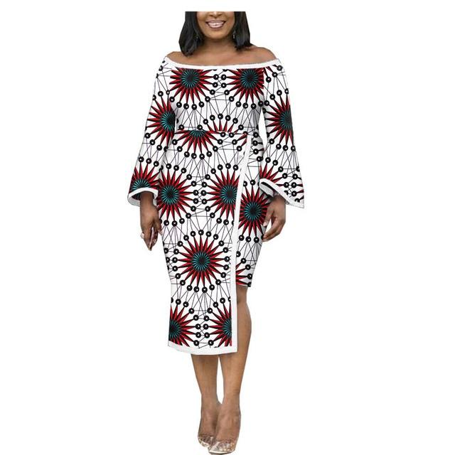 african dresses for women AFRIPRIDE customizedn ankara print flare sleeves mid-calf length women wax pencil dress A1925028