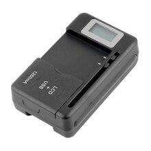 Универсальный мобильный аккумулятор США/ЕС зарядное устройство адаптер с ЖК-экран индикатора для сотовых телефонов USB порт