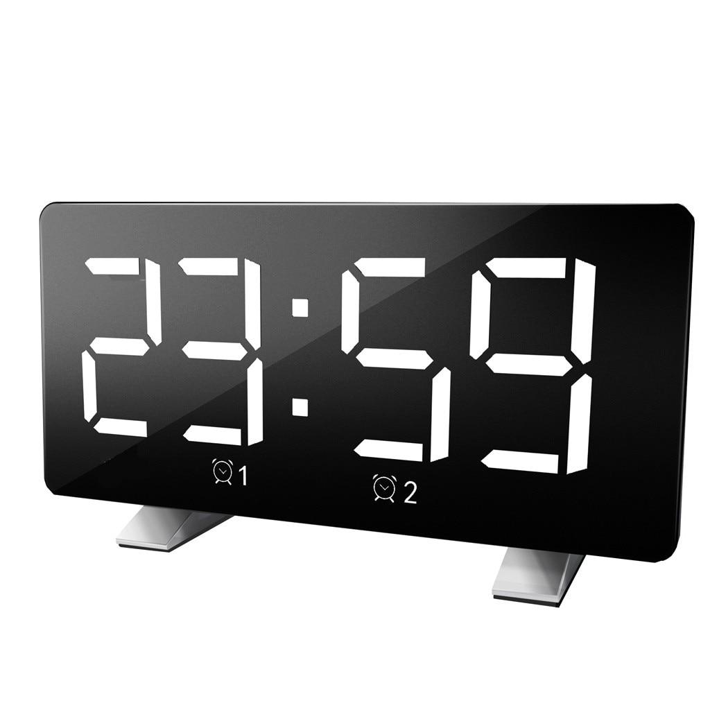 Fashion Alarm Clock Chord Tone Subclock Large LED Digital Screen Display Portable Square Charging Clocks Household Decoration