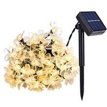 7 метров 50 Led Солнечная энергия сказочные гирлянды светящиеся цветы лампы водонепроницаемые наружные вечерние Свадебные Рождественские