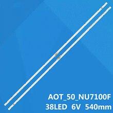 Neue 2pcs/Kit LED streifen für SAMSUNG TV UE50NU7095U UE50NU7400S UE50RU7470S UN50NU6300 UN50NU6950 UN50NU7090 UN50NU710D