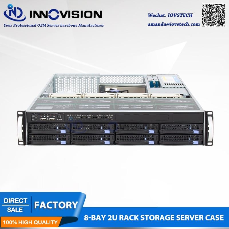 Depth 56CM 2U 560MM 8 HDD Hot Plug 19inch Rack Server Case,with 6gb Sata Backplane