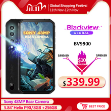 Blackview BV9900 Helio P90 Octa Core 8GB 256GB 5.84 FHD+ IP68 Waterproof Rugged Smartphone 4380mAh Android 9.0 Mobile Phone