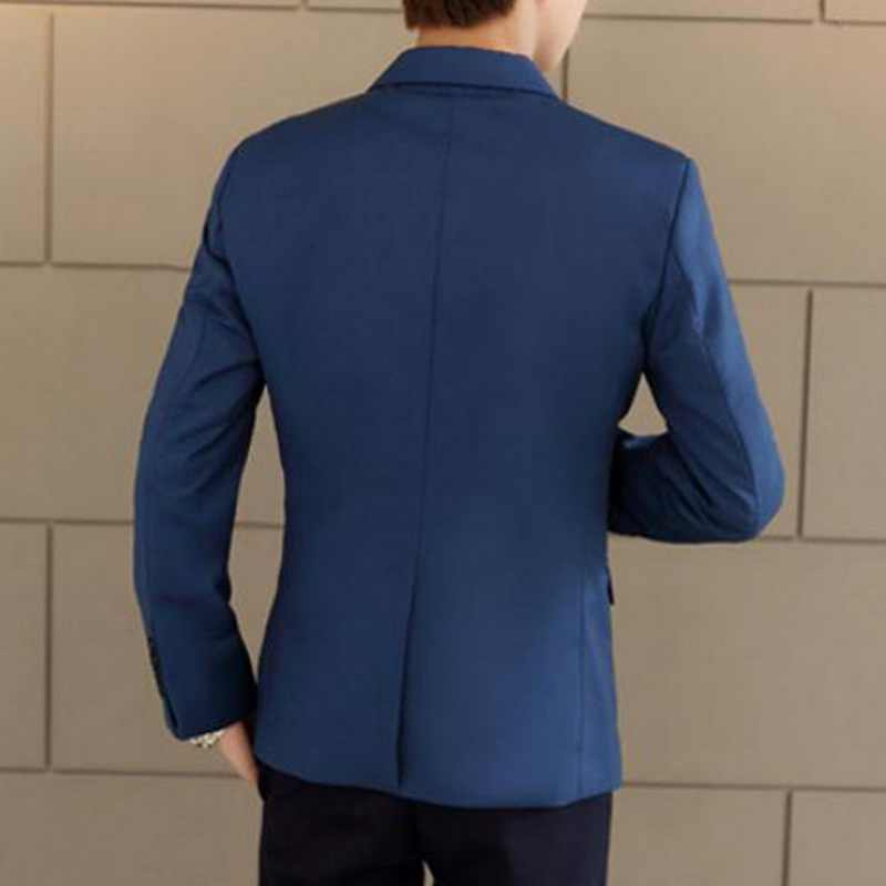 Dihope Slim Fit Sosial Blazer Musim Semi Musim Gugur Fashion Solid Mens Pernikahan Gaun Kasual Ukuran Bisnis Pria Jas