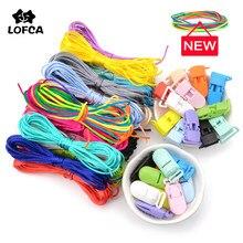 LOFCA renkli naylon kordon bebek diş kaşıyıcınız emzik klip aksesuarları DIY diş çıkarma kolye için takı kolye yapımı