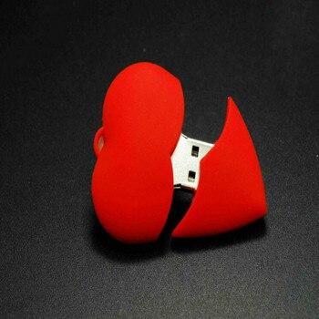 HOT! cute heart-shaped usb2.0 flash drive pen  4GB/8GB/16GB/32G beauty memory stick U disk lovely gift for girl  Lovely logo key