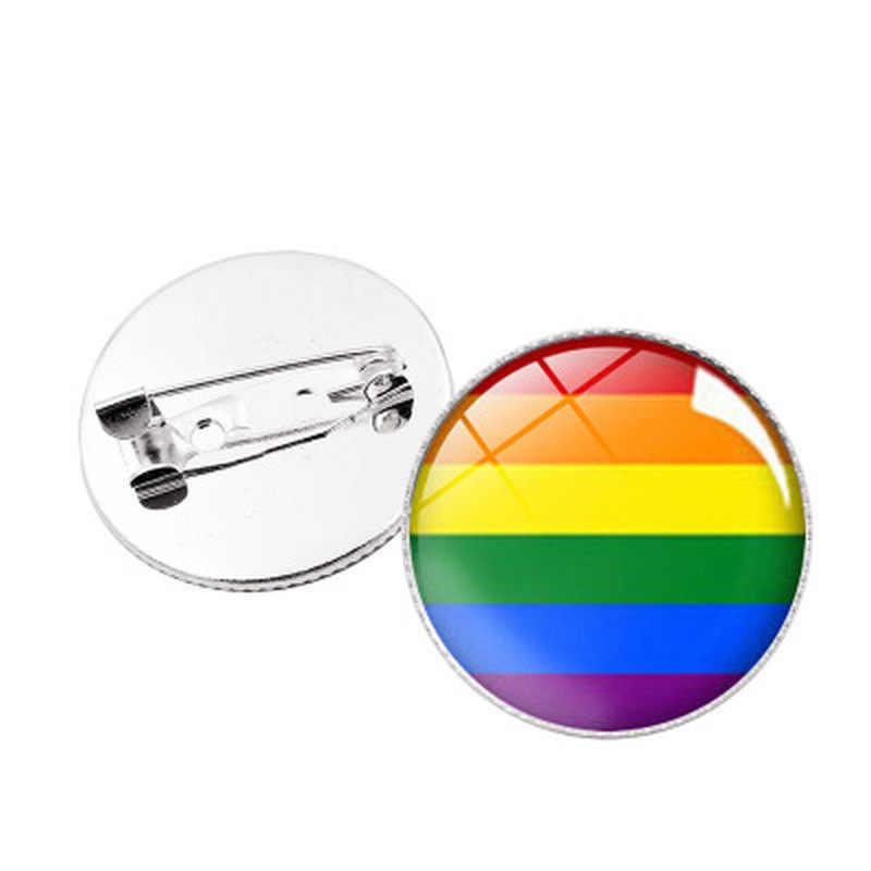1PC LGBT Pride Regenboog Vlag Blik Badge Ondersteuning Gay Lesbische Biseksueel Transgender Symbool Pin Lgbt Pictogrammen Broche