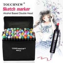 Touchnew 30/40/60/80 цветов маркеры для рисования манга авторучка